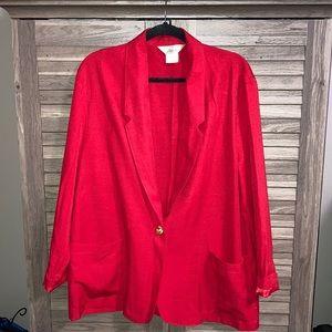 Women's Vintage Red Blazer